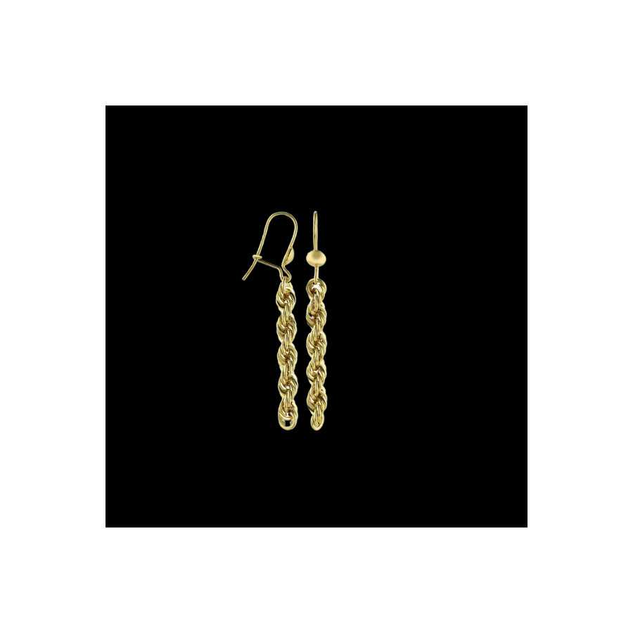 Boucle d'oreilles Or/Chiot maill